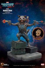 Guardians of the Galaxy 2 Životní Velikost Soška Rocket & Groot 128 cm