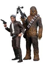 Star Wars Episode VII ARTFX+ Soška 1/10 2-Pack Han Solo & Chewbacca 20 - 23 cm