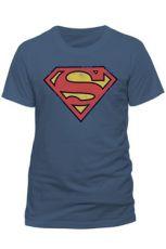 Superman Tričko Vintage Logo Velikost M
