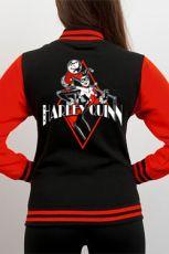 Batman Varsity Bunda Harley Quinn Diamond Velikost M