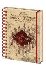 Harry Potter Poznámkový Blok A5 Marauders Map