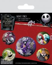 Nightmare Before Christmas Pin Placky 5-Pack Characters Pyramid International