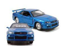 Fast & Furious Kov. Model 1/32 2002 Nissan Skyline GTR R34 *blue* Jada Toys