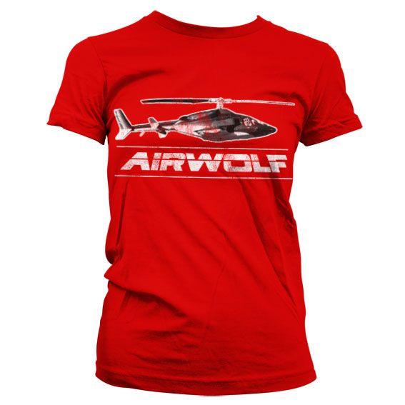 Airwolf módní dámské tričko s potiskem Chopper Distressed
