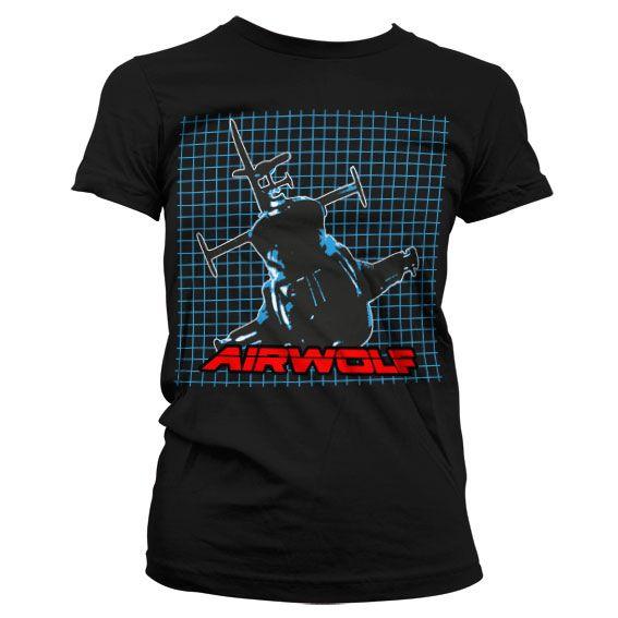 Airwolf módní dámské tričko s potiskem Pattern