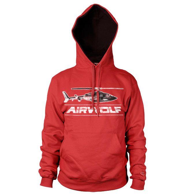 Airwolf stylová hoodie mikina s potiskem