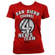Dámské tričko Zprávař San Diego Channel 4