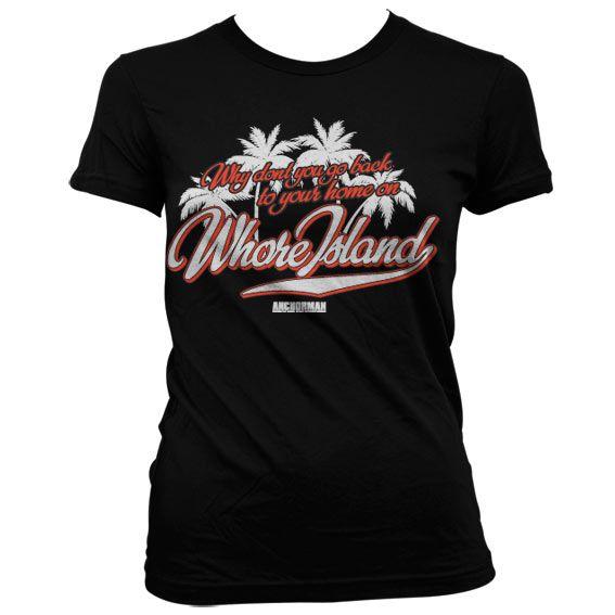 Anchorman stylové dámské tričko s potiskem Whore Island