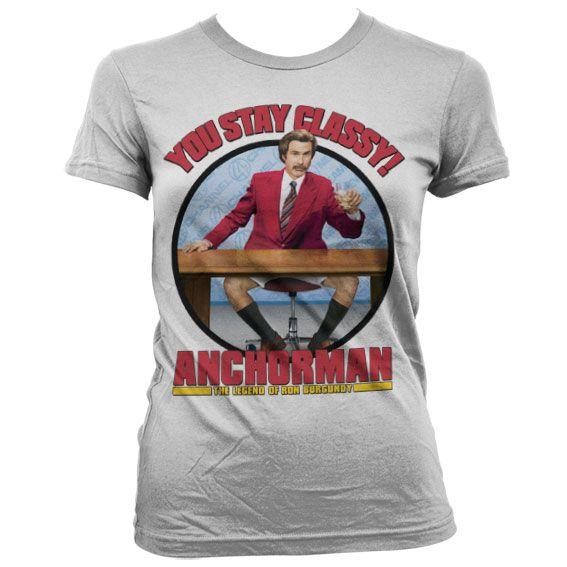 Anchorman stylové dámské tričko s potiskem You Stay Classy