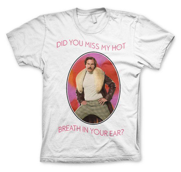 Anchorman stylové pánské tričko s potiskem Do You Miss My Hot Breath In You Ear