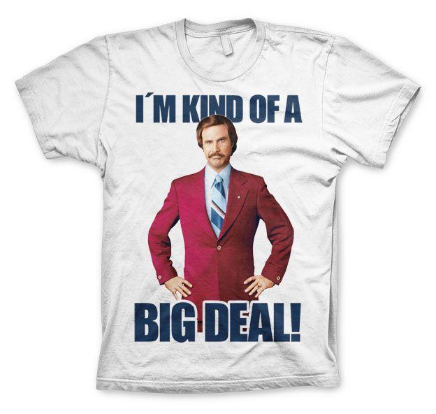 Anchorman stylové pánské tričko s potiskem I´m Kind Of A Big Deal
