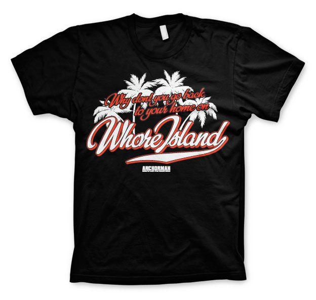 Anchorman stylové pánské tričko s potiskem Whore Island