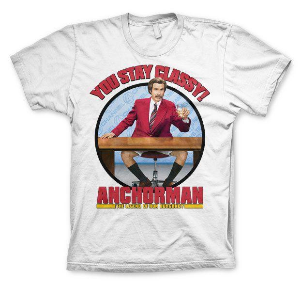 Anchorman stylové pánské tričko s potiskem You Stay Classy
