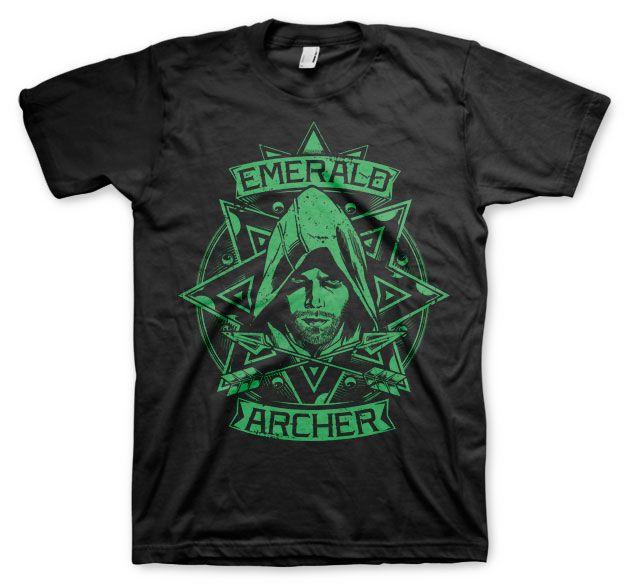 Arrow módní pánské tričko s potiskem Emerald Archer