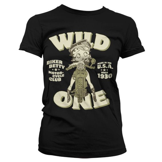 Betty Boop černé módní dámské tričko MC Club