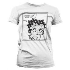 Stylové dámské tričko Betty Boop Comic bílé