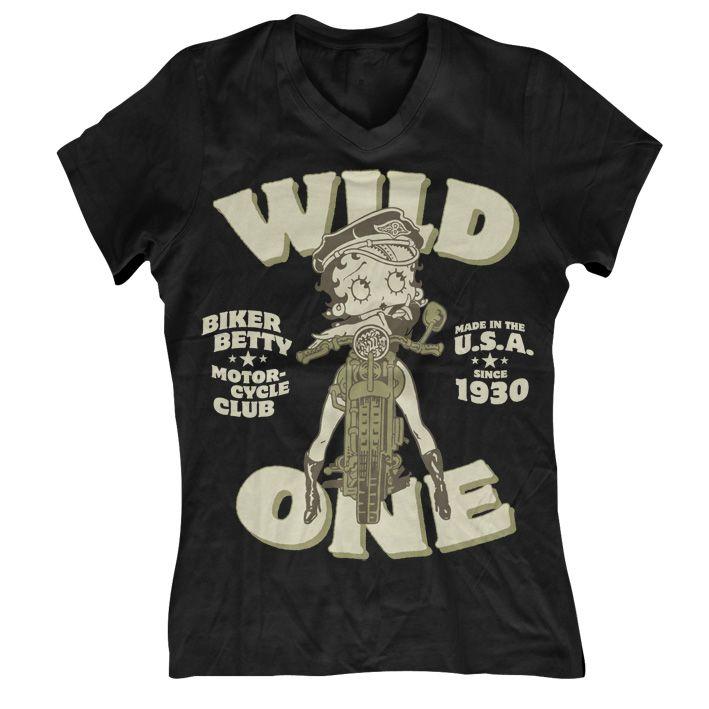 Betty Boop módní dámské tričko MC Club