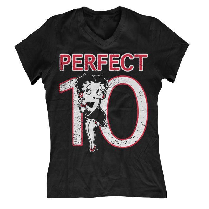 Betty Boop módní dámské tričko Perfect 10