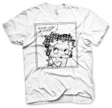 Módní dámské tričko Betty Boop Comic bílé