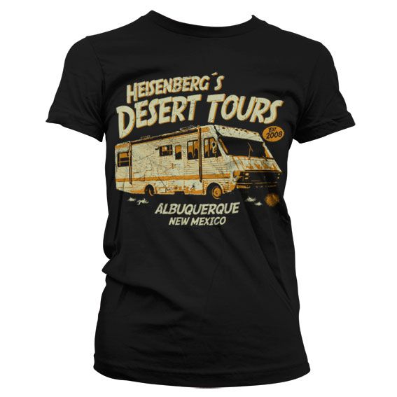 Breaking Bad dámské stylové tričko s potiskem Heisenberg´s Desert Tours