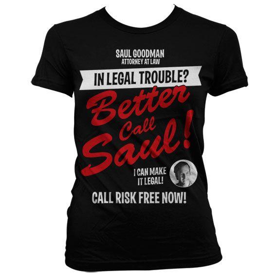 Breaking Bad dámské stylové tričko s potiskem In Legal Trouble