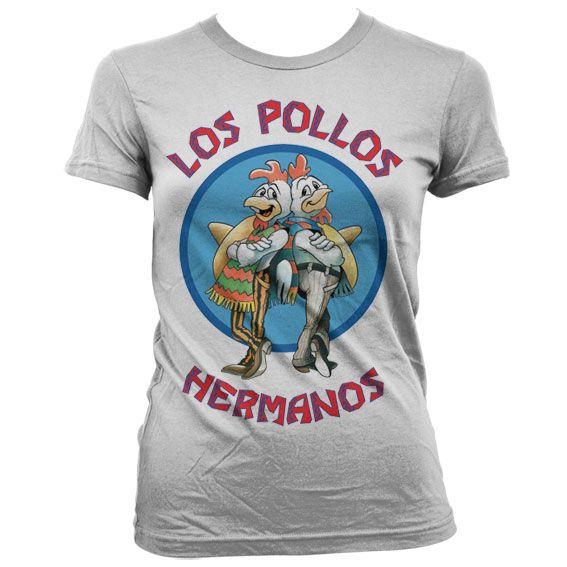 Breaking Bad dámské stylové tričko s potiskem Los Pollos Hermanos bílé