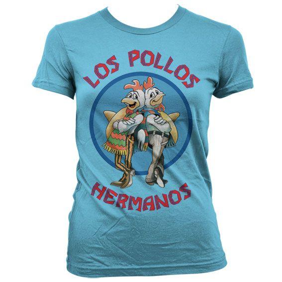 Breaking Bad dámské stylové tričko s potiskem Los Pollos Hermanos modré