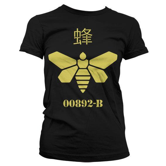 Breaking Bad dámské stylové tričko s potiskem Methlamine Barrel Bee