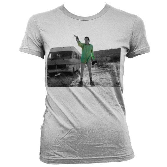 Breaking Bad dámské stylové tričko s potiskem Walter White Duotone