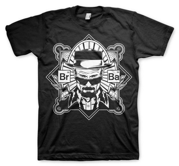 Breaking Bad pánské tričko s potiskem Br-Ba Heisenberg