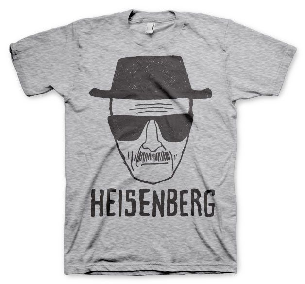 Breaking Bad pánské tričko s potiskem Heisenberg Sketch šedé S