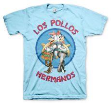 Modré pánské tričko Perníkový Táta Los Pollos Hermanos