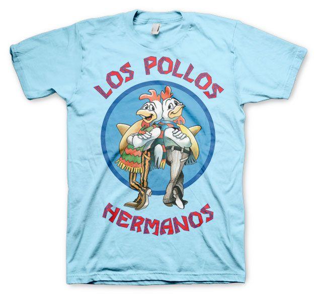 Breaking Bad pánské tričko s potiskem Los Pollos Hermanos modré