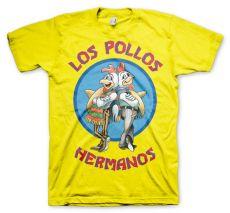 Žluté pánské tričko Perníkový Táta Los Pollos Hermanos