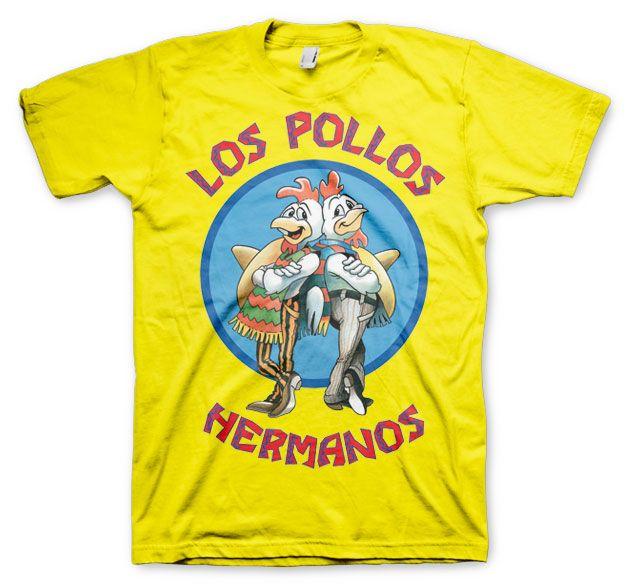 Breaking Bad pánské tričko s potiskem Los Pollos Hermanos žluté