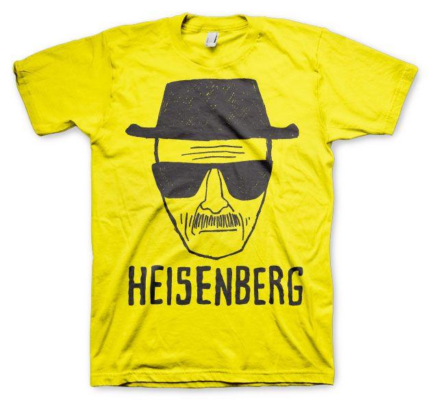 Breaking Bad stylové tričko s potiskem Heisenberg Sketch žluté