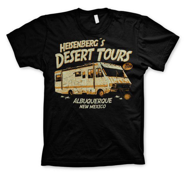 Breaking Bad stylové tričko s potiskem Heisenberg´s Desert Tours