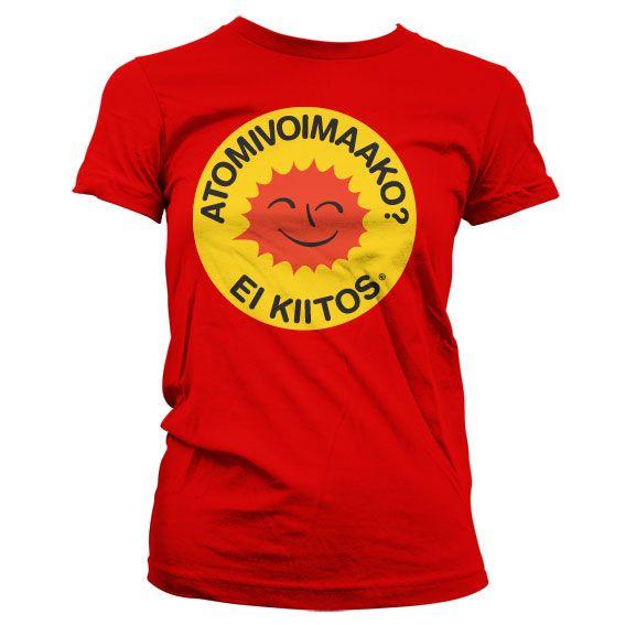 Dámské triko s humorným potiskem Atomivoimaako - Ei Kiitos