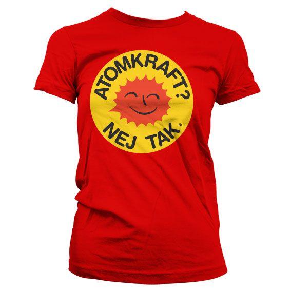 Dámské triko s humorným potiskem Atomkraft - Nej Tak