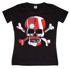 Dámské tričko Colorful Skull