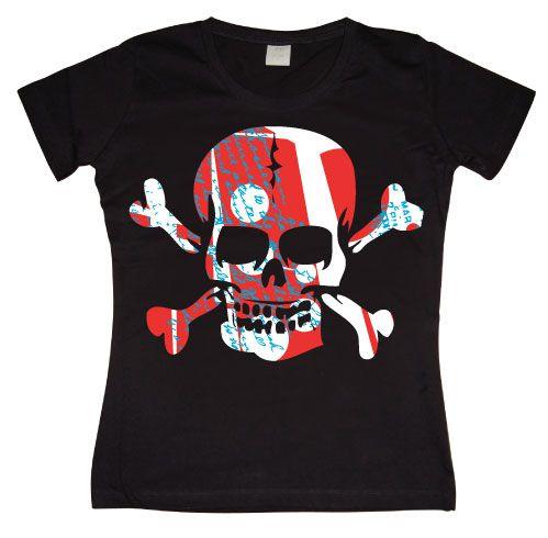 Dámské triko s humorným potiskem Colorful Skull