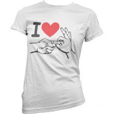 Dámské tričko I Love To Make Love