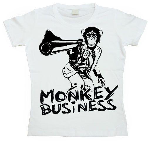 Dámské triko s humorným potiskem Monkey Business