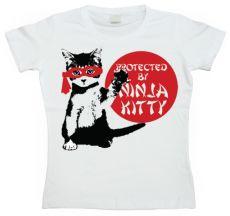 Dámské tričko Protected By Ninja Kitty
