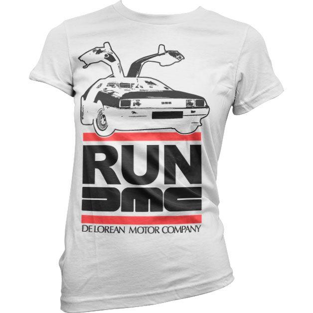 Dámské triko s humorným potiskem Run De Lorean