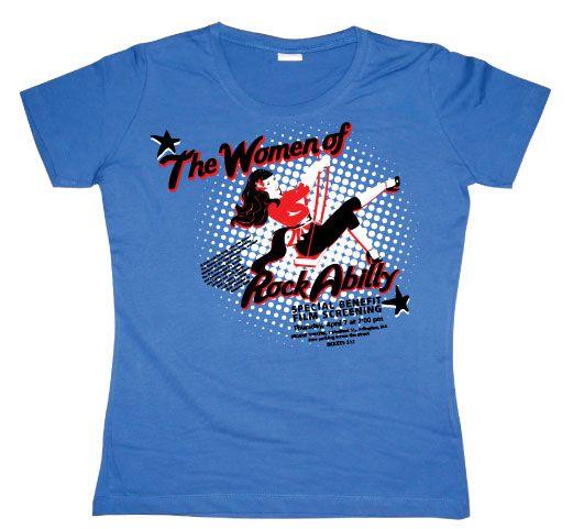 Dámské triko s humorným potiskem The Women Of Rock Abilly