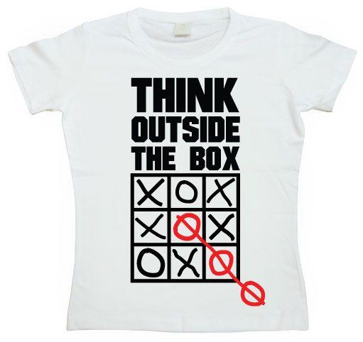 Dámské triko s humorným potiskem Think Outside The Box