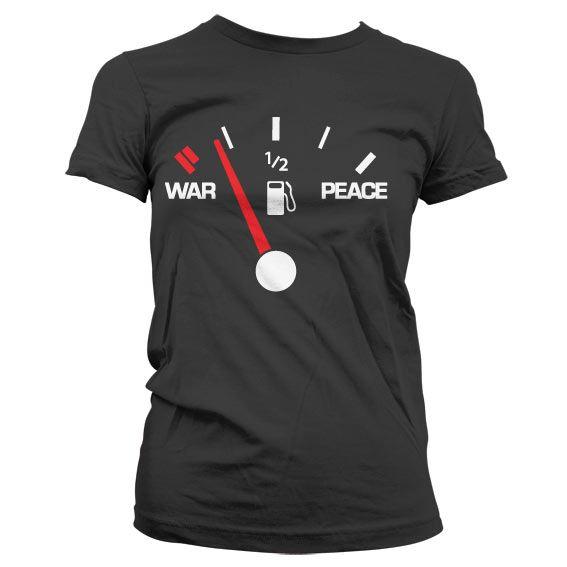 Dámské triko s humorným potiskem War & Peace Gauge