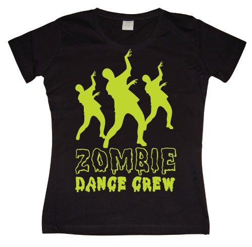 Dámské triko s humorným potiskem Zombie Dance Crew