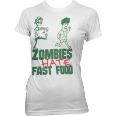 Dámské tričko Zombies Hate Fast Food